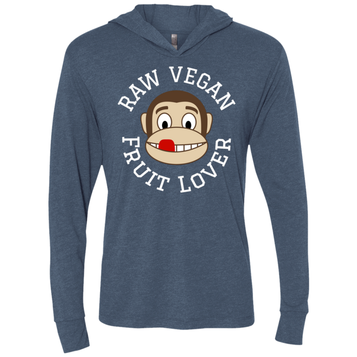 Raw Vegan Fruit Lover LS Hooded T-Shirt