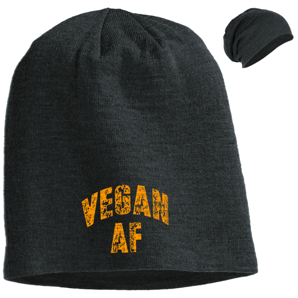 Vegan AF District Slouch Beanie