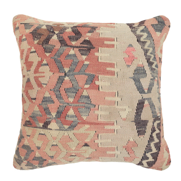 Yonder Living Vintage Kilim Cushion Diamonds Peach