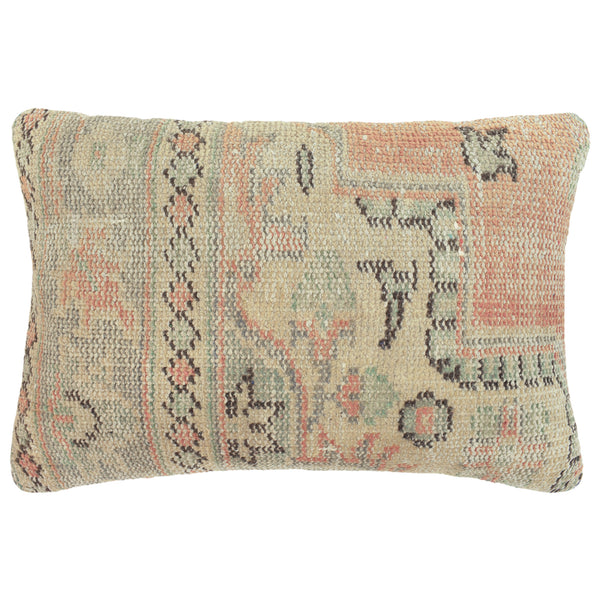 Yonder Living Vintage Kilim Cushion Square Peach Grey