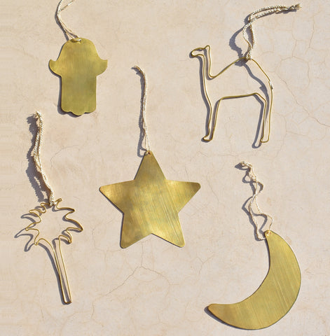 Yonder Living Brass Christmas Decorations