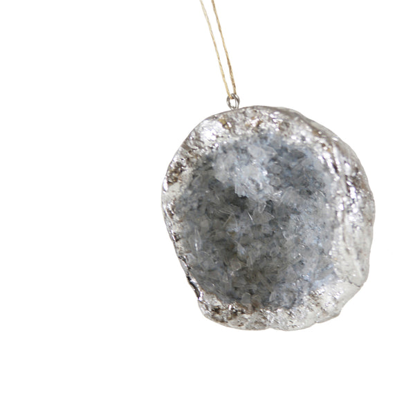 Silver Geode Decoration