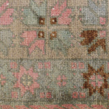 yonder living vintage berber kilim cushion pink blue brown stars floral