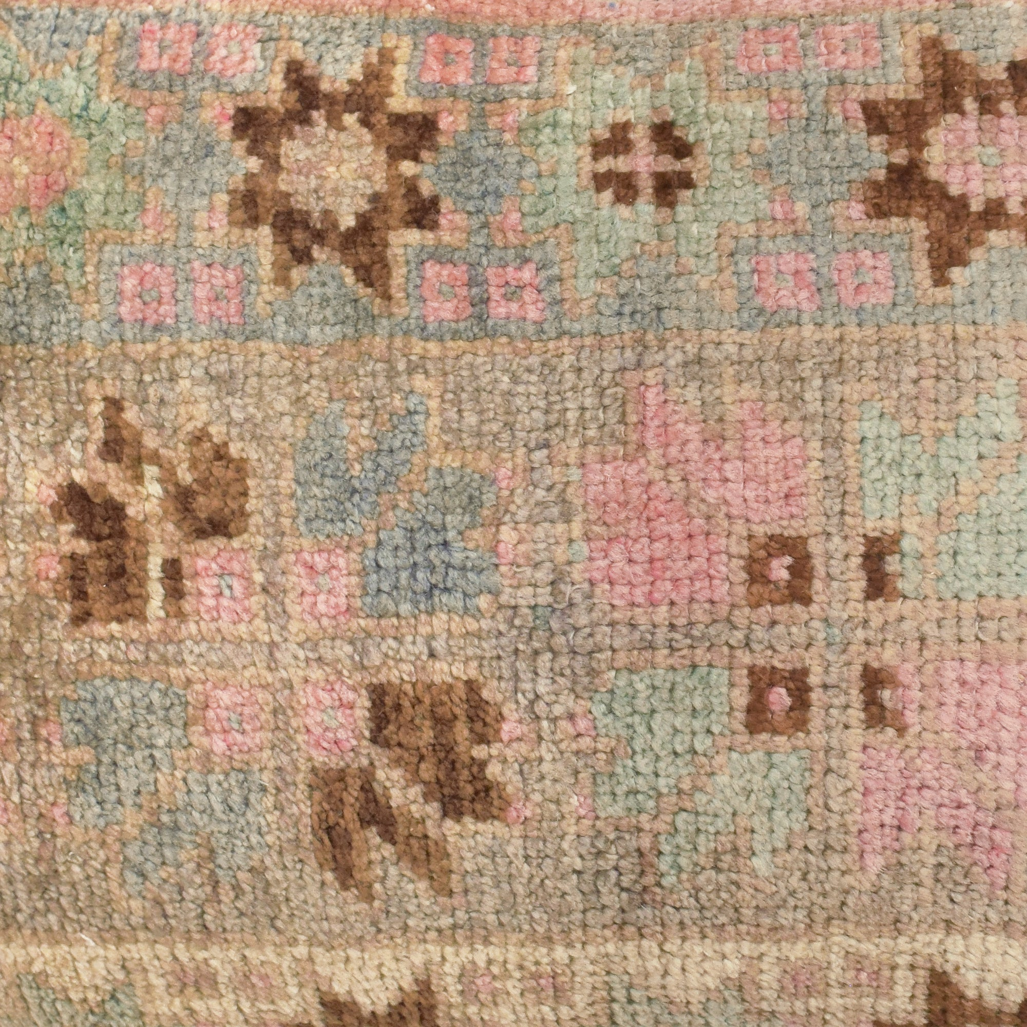 yonder living vintage berber kilim cushion pink blue brown floral