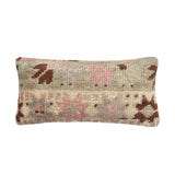 yonder living vintage kilim cushion floral pink brown cream floral