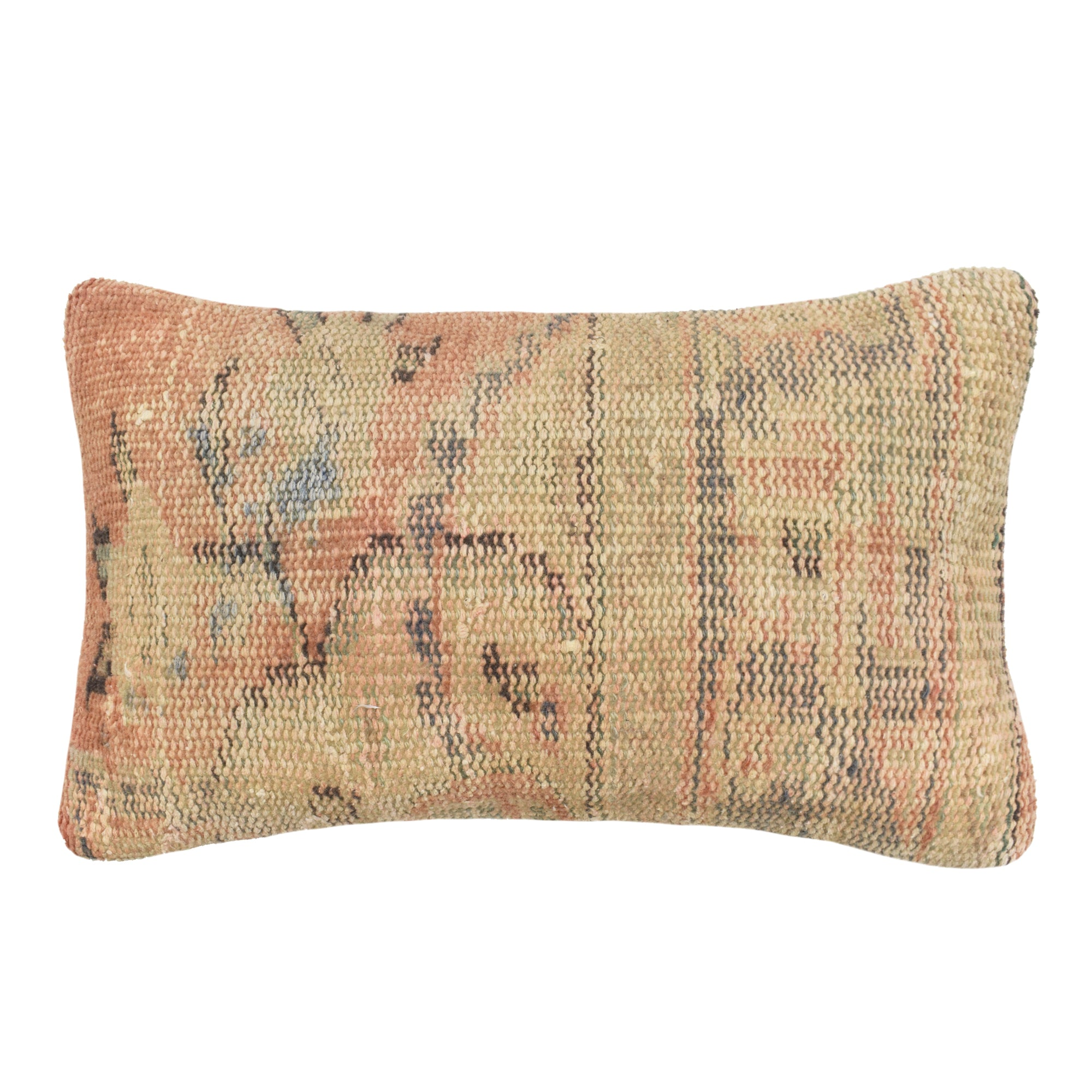 yonder living kilim cushion floral peach pistachio