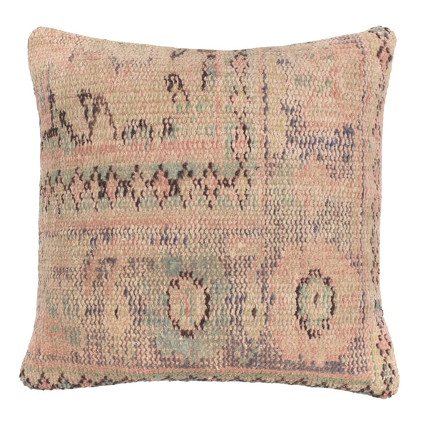 yonder living vintage kilim cushion peach lilac sage green blue flowers