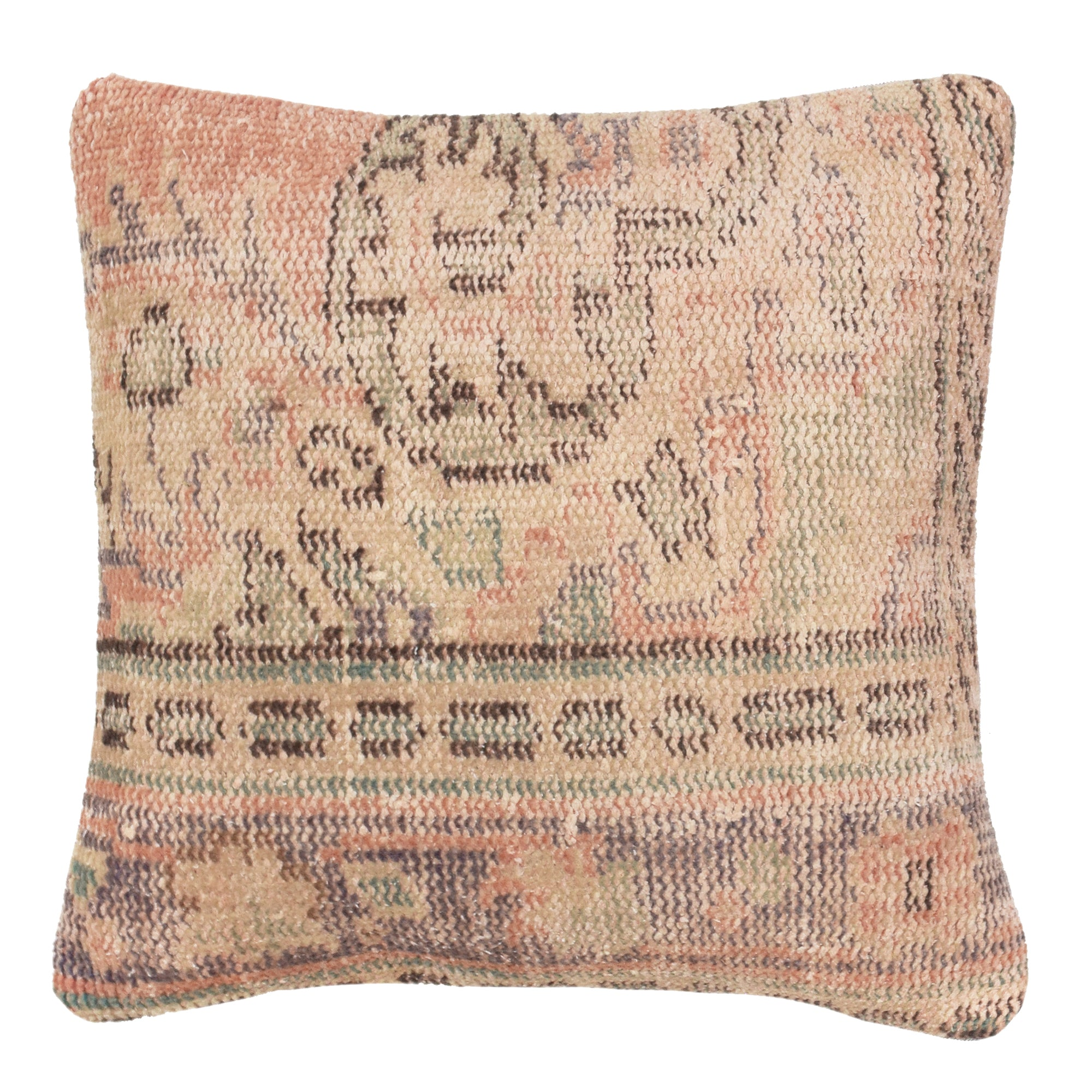 yonder living vintage kilim cushion peach sage green lilac sand