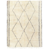 yonder living beni ourain vintage cream brown diamond fringe berber