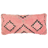 yonder living vintage berber bolster cushion neon pink blush peach charcoal diamonds