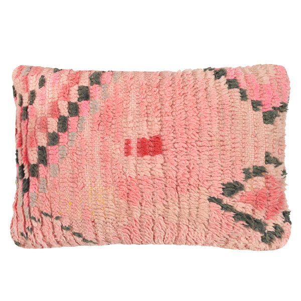 yonder living vintage berber cushion blush pink charcoal diamonds