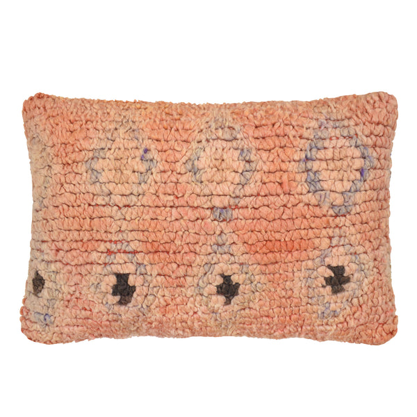 yonder living vintage berber cushion blush coral peach lilac diamonds