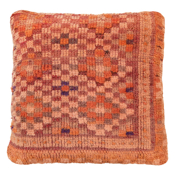 yonder living vintage Moroccan berber cushion orange diamonds peach