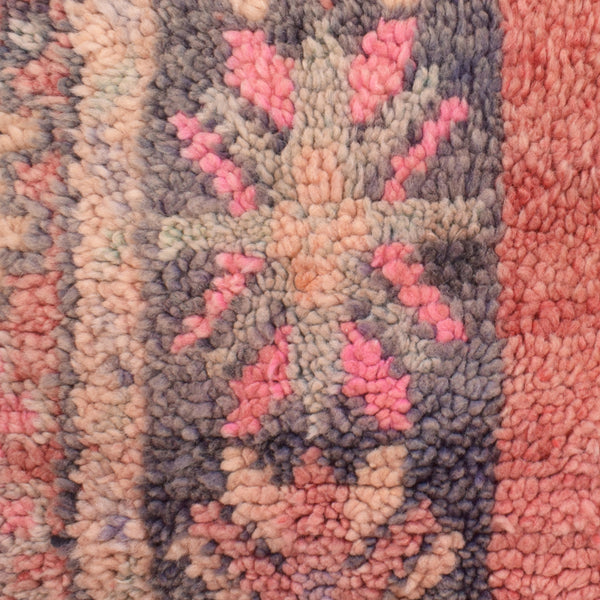 yonder living vintage berber cushion blush pink symbols peach mint stars
