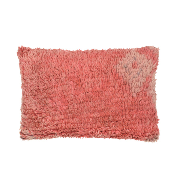 yonder living vintage Moroccan berber cushion dusty red blush diamond