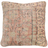yonder living vintage kilim cushion cream orange sage green floral