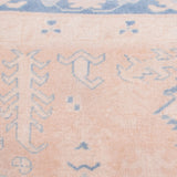 yonder living vintage kilim cushion cream peach denim blue floral pastel symbols
