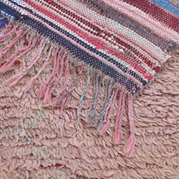 Vintage-moroccan-marrakech-rug-runner-berber-lilac-grey-diamonds-boujad