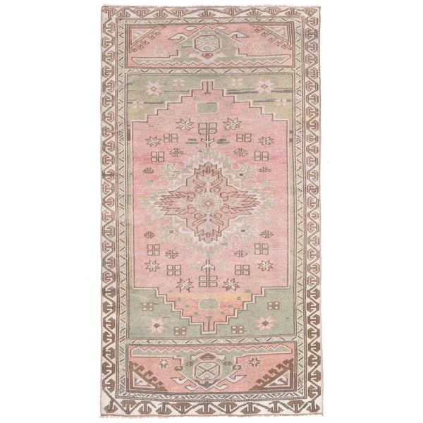 Yonder Living Vintage Turkish Kilim Persian Rug Sage Green Pink