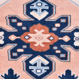 Yonder vintage hand knotted turkish milas rug navy pink terracotta