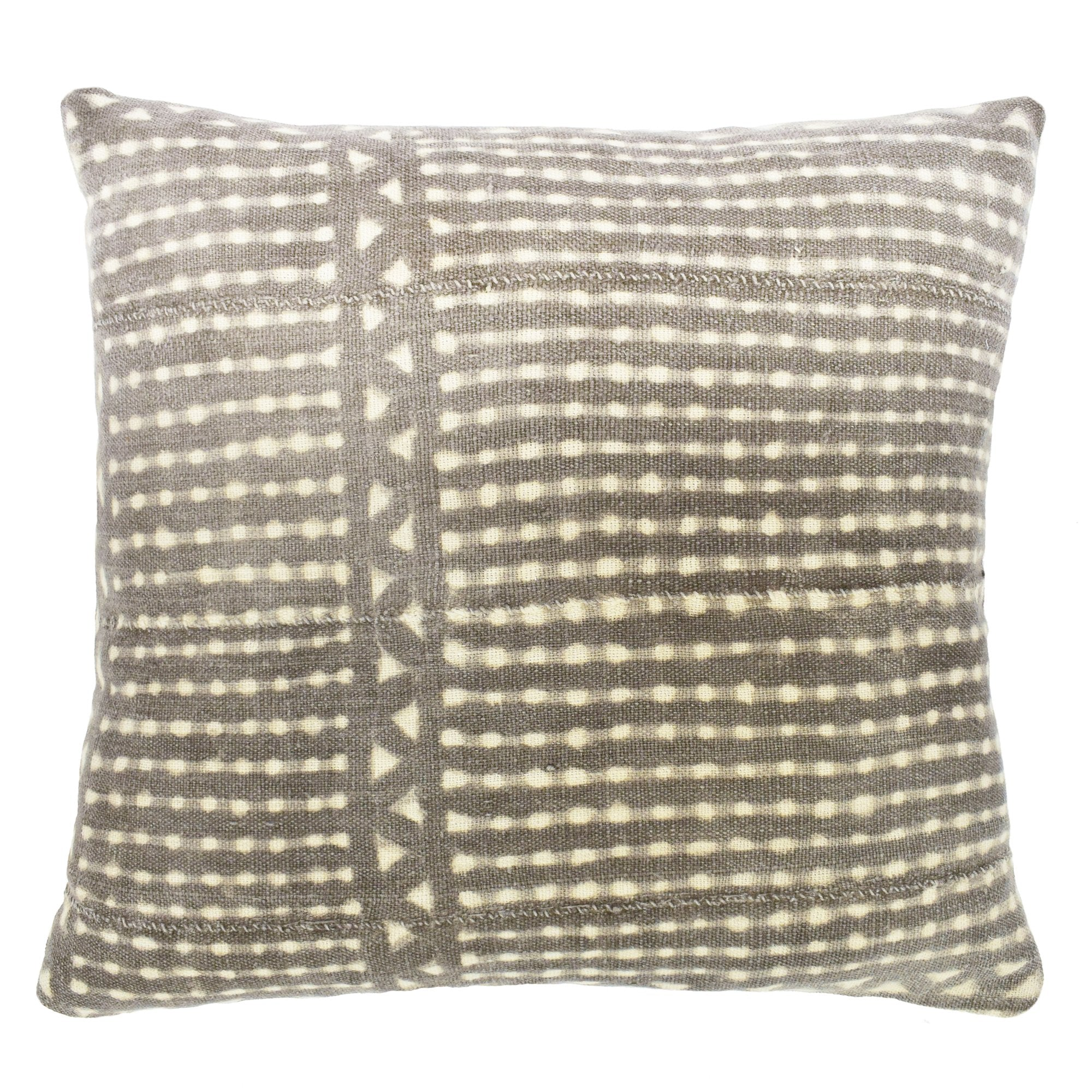 Grey Mali Mudcloth Cushion