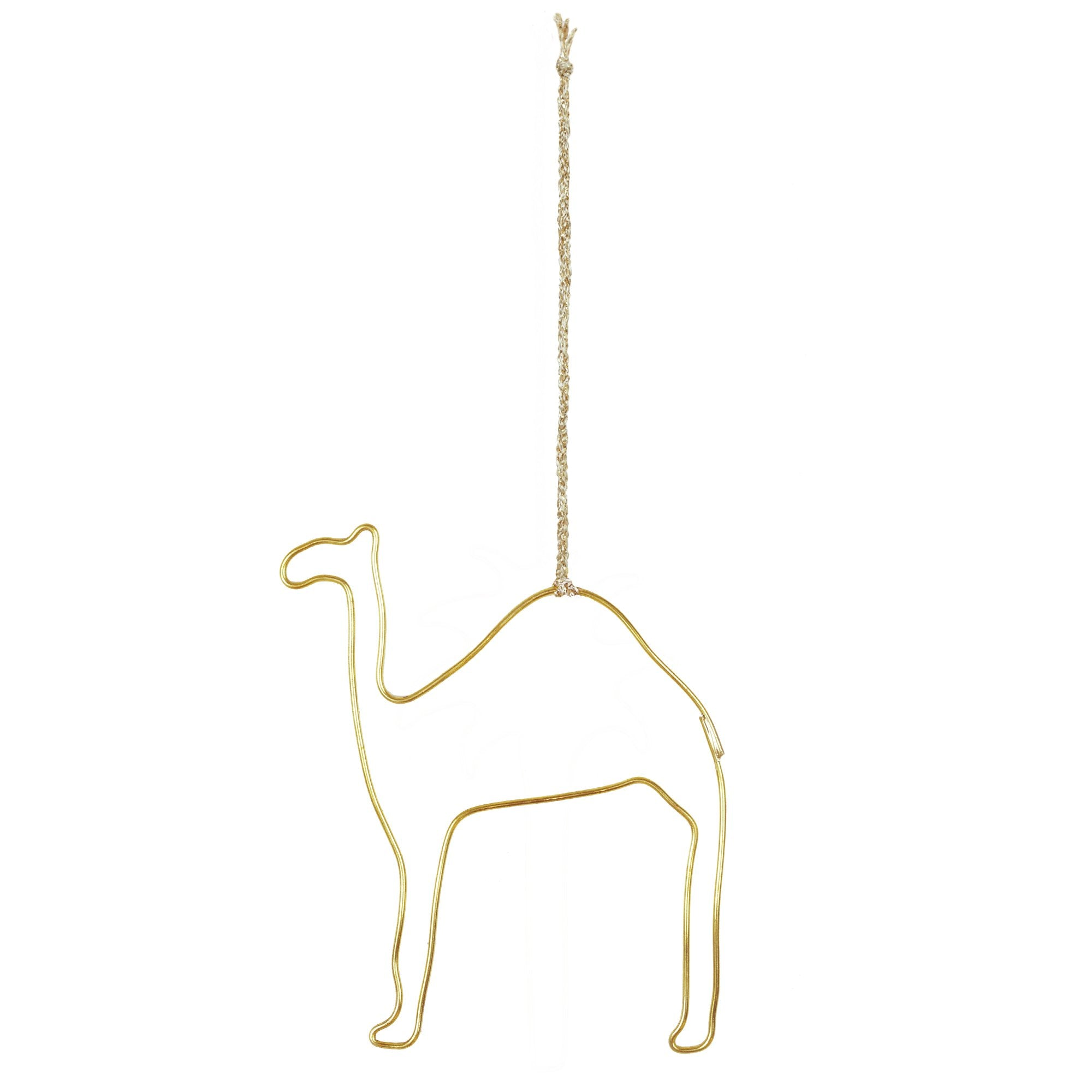 Yonder Brass Camel Christmas Decoration