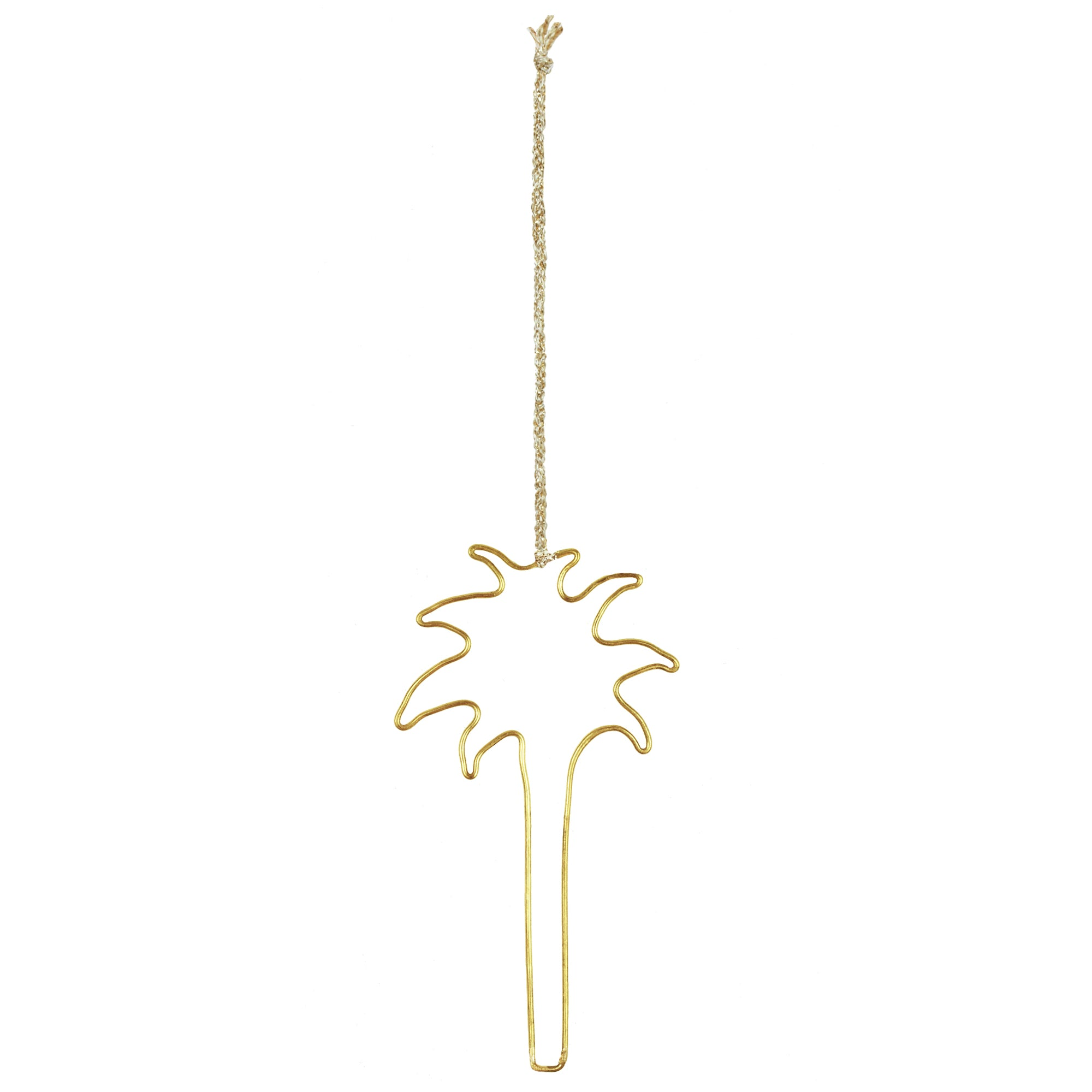 Yonder Brass Palm Tree Christmas Decoration
