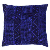 Indigo Blue Navy Mali Mudcloth Cushion Ikat Crosses