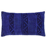 Indigo Blue Navy Mali Mudcloth Cushion Ikat Lumbar Crosses