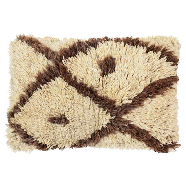 Vintage Berber Cushion - Cream, Brown