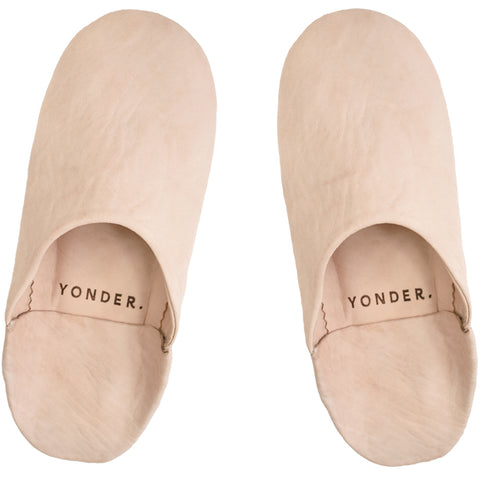Leather Babouche Slippers