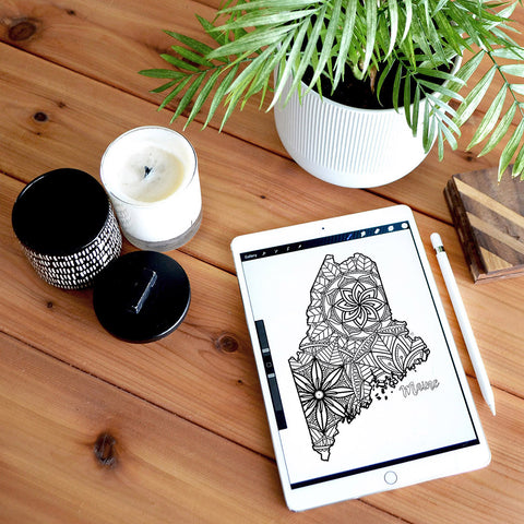 maine coloring page