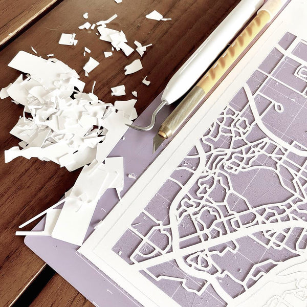 papercut city map