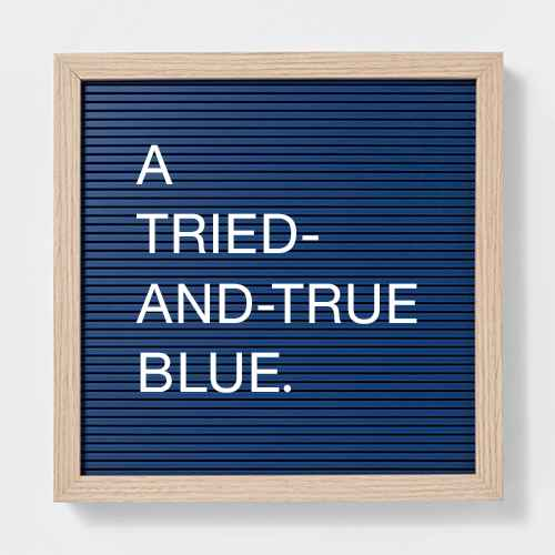 Target classic blue letterboard