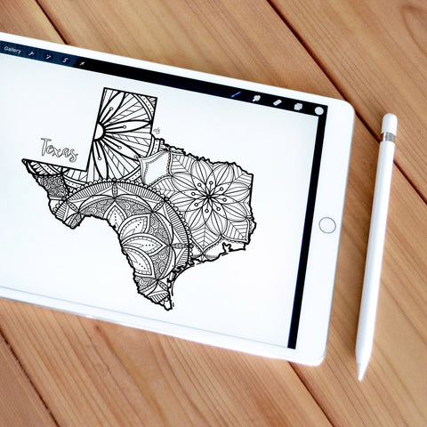 texas coloring page