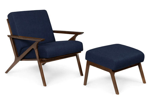 Article otio oceano blue walnut lounge set