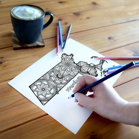 Massachusetts coloring page