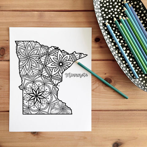 minnesota coloring page