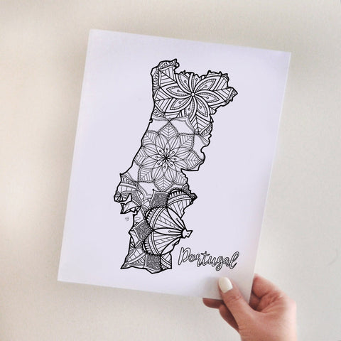 Portugal coloring page