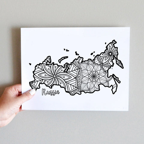 russia coloring page