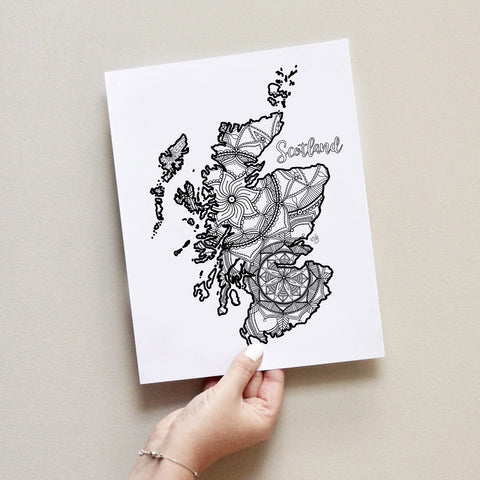 scotland map coloring page