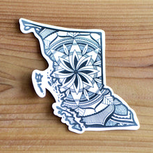 Load image into Gallery viewer, British Columbia Canada Sticker | Map of Canada Sticker | Map Art | Travel Gift Ideas | Canadian Province Sticker | Canada Map | Travel Sticker | Map Sticker