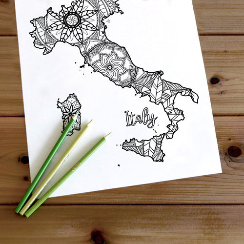 adult coloring pages | Coloring pages for adults | Coloring pages for kids | italy map coloring sheets | italy map coloring page | italy coloring page