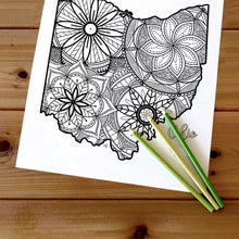Load image into Gallery viewer, ohio usa coloring pages | state map coloring pages for adults | Coloring pages for kids | ohio usa map coloring sheets | state map coloring page | united states coloring page | united states of america | map of america