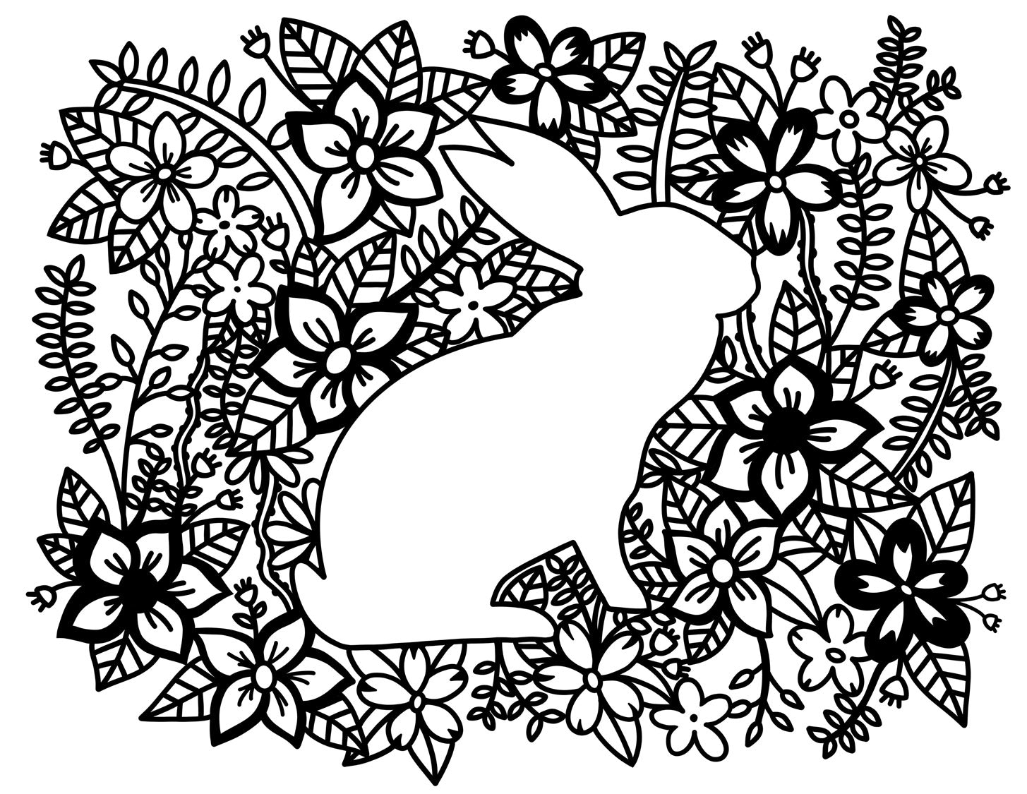 Coloring Pages Rabbit Free Download Ta Muchly