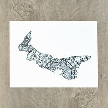 Load image into Gallery viewer, Map of Prince Edward Island Canada | Map Art | Travel Gift Ideas | Prince Edward Island City Map | Map Wall Art | Canadian provinces of Canada