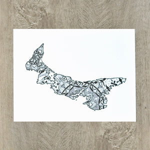 Map of Prince Edward Island Canada | Map Art | Travel Gift Ideas | Prince Edward Island City Map | Map Wall Art | Canadian provinces of Canada