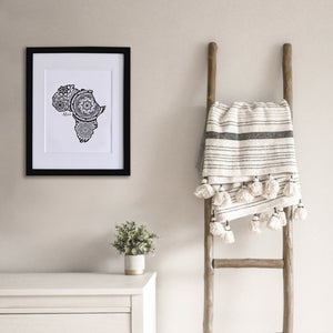 Map of Africa | Map Art | Travel Gift Ideas | Africa City Map | Map Wall Art | Africa Map