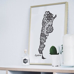 Map of Argentina | Map Art | Travel Gift Ideas | Argentina City Map | Map Wall Art | Argentina Map
