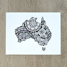 Load image into Gallery viewer, Map of Australia | Map Art | Travel Gift Ideas | Australia City Map | Map Wall Art | Australia Map